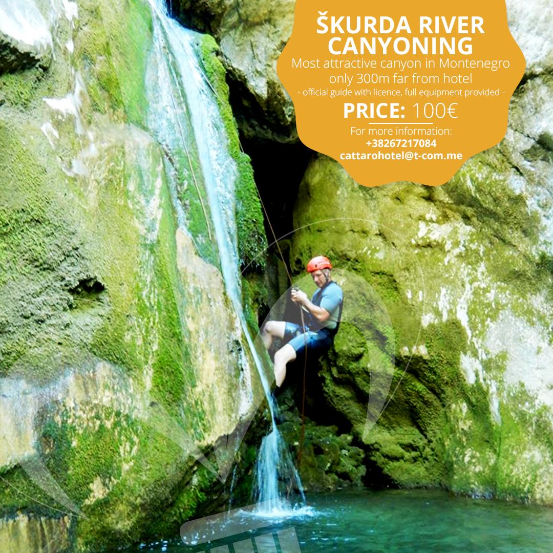 Skurda river canyoning tour